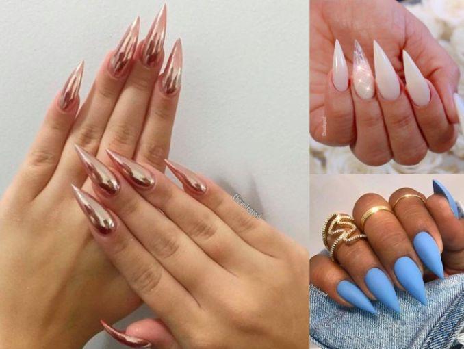 5 formas de llevar las uñas puntiagudas con elegancia | ActitudFem