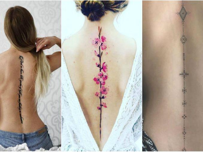 Tatuajes En La Espina Dorsal Diseños Fotos Actitudfem