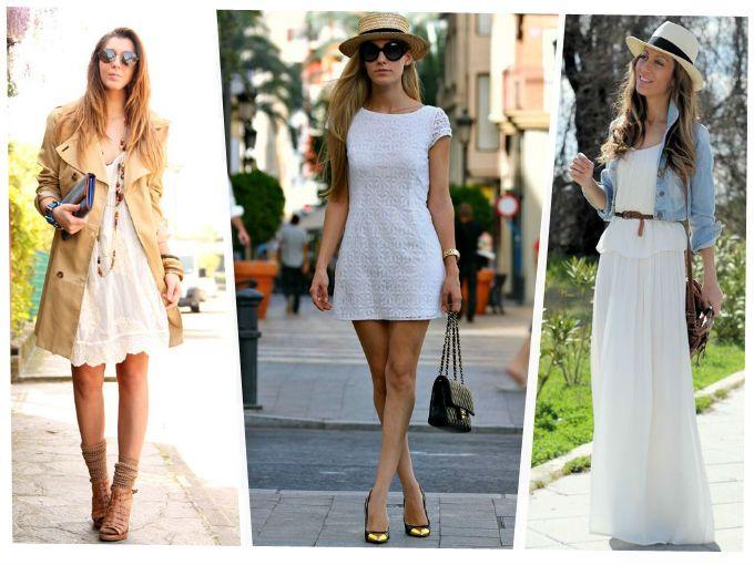Que zapatos combinan con un vestido blanco