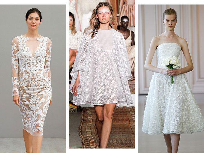 Vestidos de novia de dia cortos