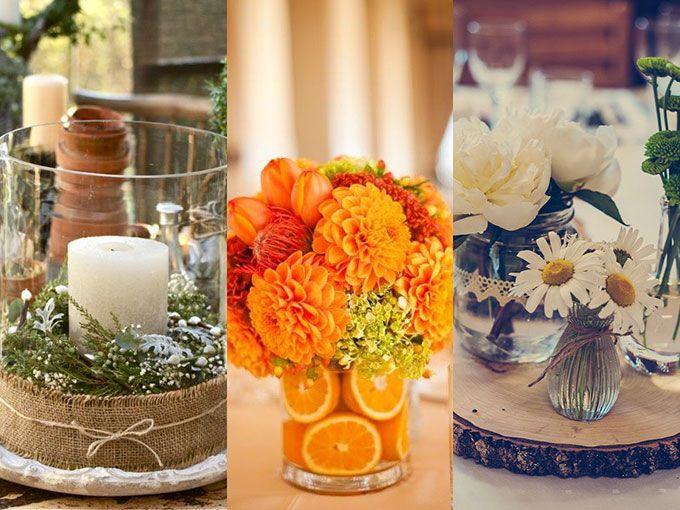 Ideas de centros de mesa originales para boda actitudfem for Mesas de centro originales y baratas