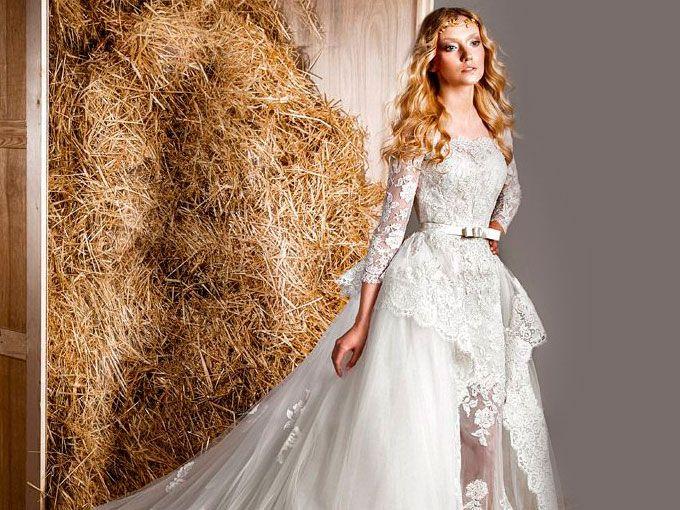Vestido de novia para invierno 2015