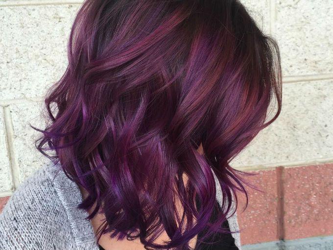 Color de cabello corto para morenas