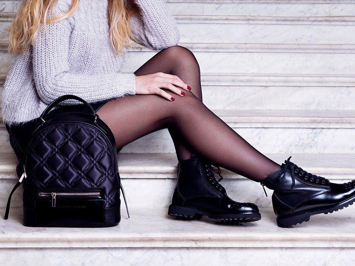 10 Ideas De Outfits Con Faldas Y Medias Para Disfrutar Del Frio