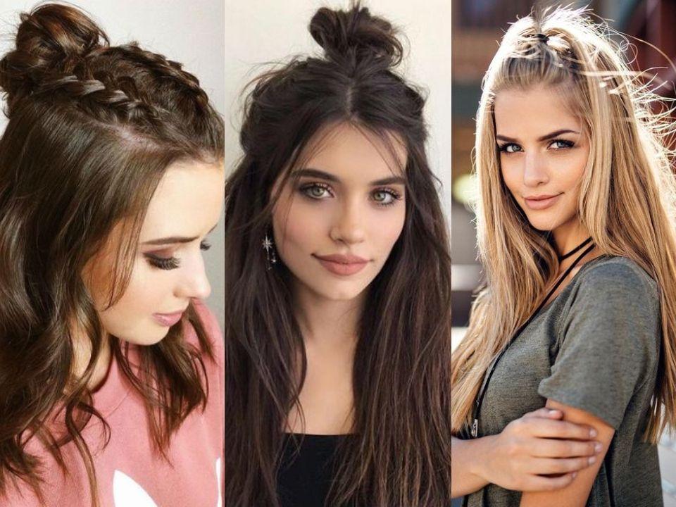Simple y con estilo peinados con coletas Imagen De Tendencias De Color De Pelo - Peinados recogidos fáciles con media coleta   ActitudFem