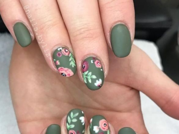 Diseños De Uñas Con Flores 2019 Actitudfem