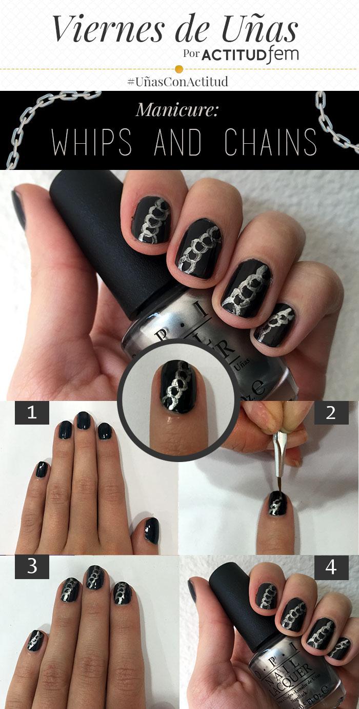 Manicure Uñas De 50 Sombras De Grey Tutorial Actitudfem