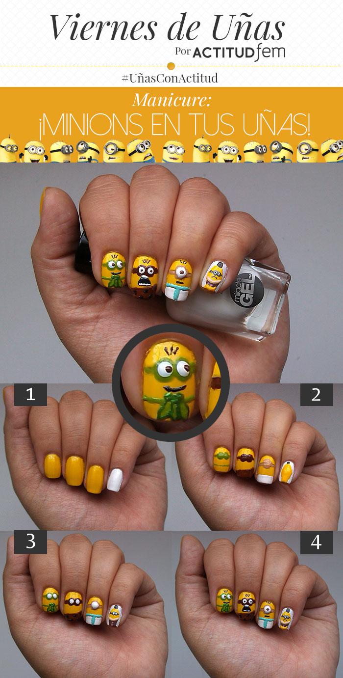 Minions en tus uñas [Manicure] | ActitudFem