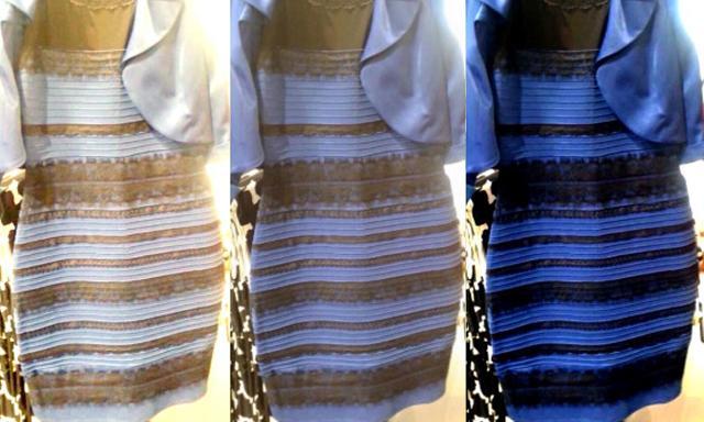 Porque vestido blanco dorado azul negro
