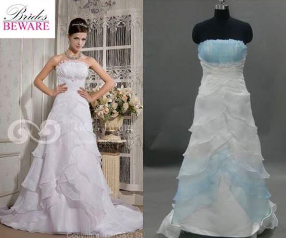 Expectativa VS realidad cuando ordenas vestidos de novia por Internet